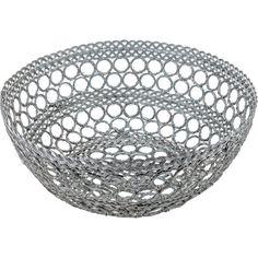 multifunctional iron basket in silver