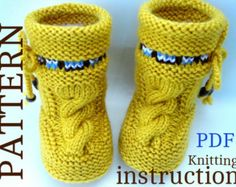 P A T T E R N Baby Booties Baby Girl Shoes Pattern Knitted