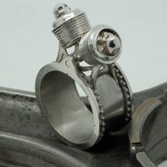 Bague Twin Skull – Hecliptic Piston Ring, Cufflinks, Accessories, Wedding Cufflinks