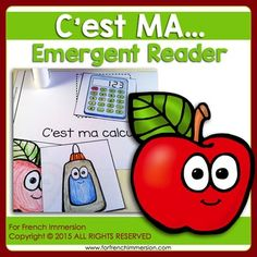 For French Immersion Emergent Reader - It's my... - C'EST MA... - en français Read In French, French Class, Fun Illustration, French Immersion, Emergent Readers, Student Reading, Teaching French, France, French Language