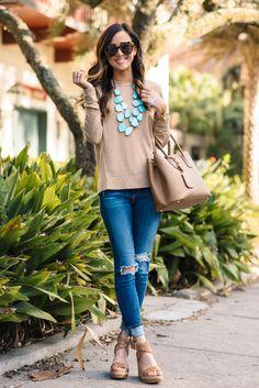 Topshop girly crewneck sweater