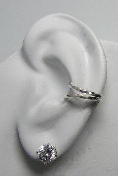 Ear Cuff Sterling Silver EarBand Nonpierced Wrap by earcuffs. $9.50 USD, via Etsy.