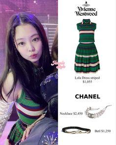 Korean Girl Fashion, Blackpink Fashion, Kpop Fashion Outfits, Looks Teen, Chanel Necklace, Music Station, Cute Girl Face, Jennie Blackpink, Hair Videos