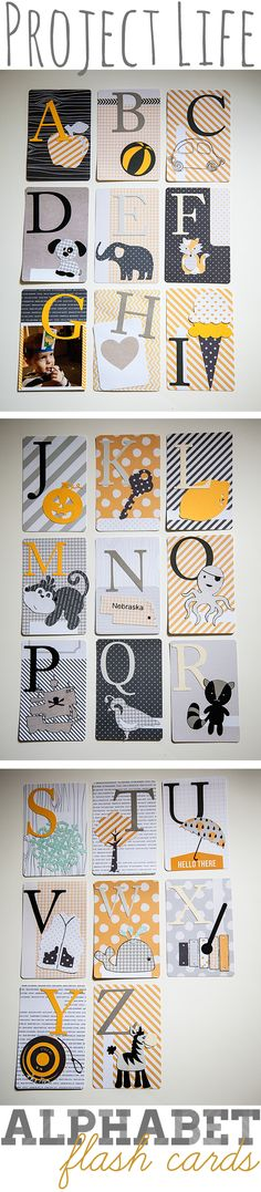 Alphabet Flash Cards by WhipperBerry #socute!