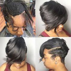 Nice Short sew in by @k.green_hair  Read the article here - http://blackhairinformation.com/uncategorized/nice-short-sew-k-green_hair/
