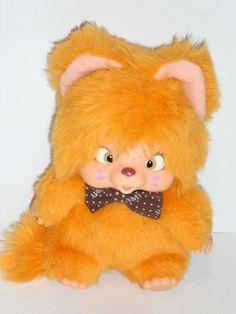 ღஐƸ̵̡Ӝ̵̨̄Ʒஐ Monchichi Nyamy Katze orange super Zustand Monchhichi Washino