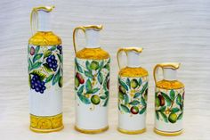 Set oliere varie misure, decoro Olive