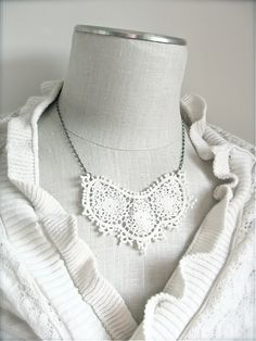 Ivory Lace Necklace Vintage style jewelry by Sweet by sweetsimple, $22.00