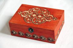 Red wooden box in indian style!