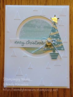 Festival of Trees - love this set and coordinating punch! Totally CASED Debbie Currier's card, but changed the earthy red and green to snowy and silvery. One of my favs! Thanks Deb!!