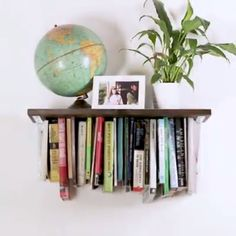 UpsideDown Optical Illusion Bookshelf DIY organization books shelving is part of Bookshelves diy - Ideias Diy, Diy Organization, Diy Videos, Hacks Videos, Diy Furniture, Modern Furniture, Diy Home Decor, Home Design Diy, Interior Design