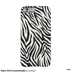 Zebra Print Customizable Barely There iPhone 6 Case