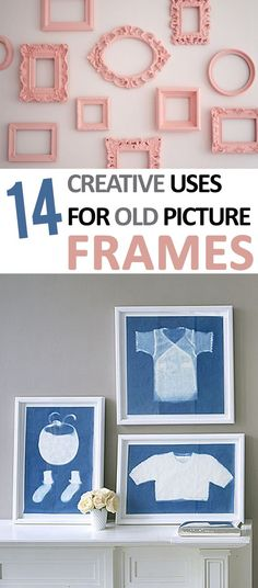 (Use sun paper and create fadom designs?) DIY picture Frames, Things to Do With Old Picture Frames, Recycling Picture Frames,