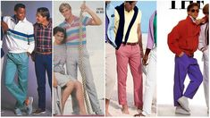 These classic ensembles include tailored skirt suits, low heels, wrap dresses, shift dresses, silk o Moda Preppy, Preppy Mode, Preppy Style, 80s Theme Party Outfits, 80s Inspired Outfits, 80s Party, Boys 80s Fashion, Preppy Mens Fashion, Adrette Outfits