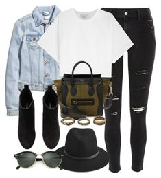 """Untitled #12167"" by vany-alvarado ❤ liked on Polyvore featuring H&M, River Island, 3.1 Phillip Lim, rag & bone, CÉLINE, Forever 21 and Ray-Ban"