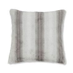 Catherine Lansfield Wind Faux Fur Cushion Cover, Grey, 55 x 55 Cm
