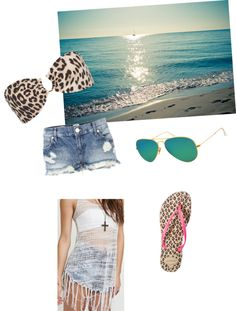 """""""Beach day"""" by roolovebug ❤ liked on Polyvore"""
