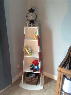 Nursery lighthouse nautical bookcase