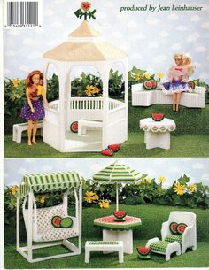 """""""SUMMER GARDEN""""~Plastic Canvas PATTERN BOOK ONLY fits BARBIE FASHION DOLL~OOP"""