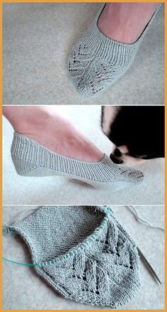 Insole Slippers/ Lace - Free Pattern Free Knitting Pattern Always aspired to be able to knit, nonetheless not certain how to start? This kind of Complete Beg. Easy Knitting, Knitting Socks, Knitting Patterns Free, Knit Patterns, Free Pattern, Knit Socks, Knitted Slippers, Crochet Slippers, Knit Or Crochet