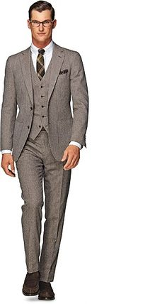 Suit Brown Plain Havana P3956 Moda Hombre 8d80c35f30f