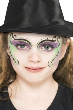 Witch Make-Up FX - makeup+ideas+for+witch+costumes Simple Witch Makeup, Kids Witch Makeup, Halloween Makeup For Kids, Kids Makeup, Makeup Ideas, Halloween Halloween, Fx Makeup, Skull Makeup, Makeup Tutorials