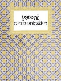 Great Printable - Parent communication notebook