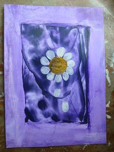 Wachsmalerei Blume