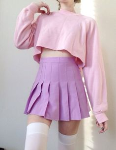 Tennis Skirts are cute! Pastel Fashion, Kawaii Fashion, Cute Fashion, Fashion Outfits, Fashion Ideas, Vintage Fashion, Aesthetic Fashion, Aesthetic Clothes, Aesthetic Outfit