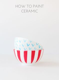 How to Paint Ceramic-- click through for step by step tutorial