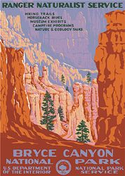 Bryce Canyon National Park Vintage Poster (Ranger Naturalist Service Series) in the Discover Your Northwest Online Store
