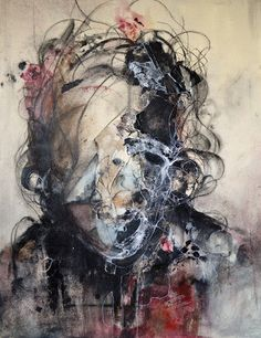 Dark abstract portraits by Eric Lacombe - Bleaq Arte Horror, Horror Art, Abstract Portrait, Portrait Art, Portraits, Abstract Art, Abstract Faces, Eric Lacombe, Frida Art