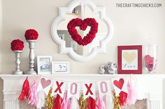 Adorable Valentine's Day decorations that your whole family will love! | Inspired by The Crafting Chicks