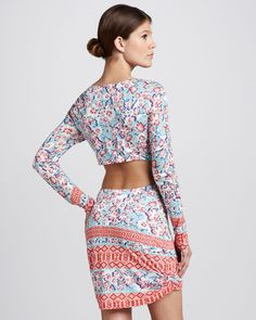 "Pencey, ""Pencey Printed Open-Back Dress"" - More at https://www.getbeautify.com"