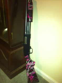 Muddy girl camo shot gun. (Had to show off my gun!)