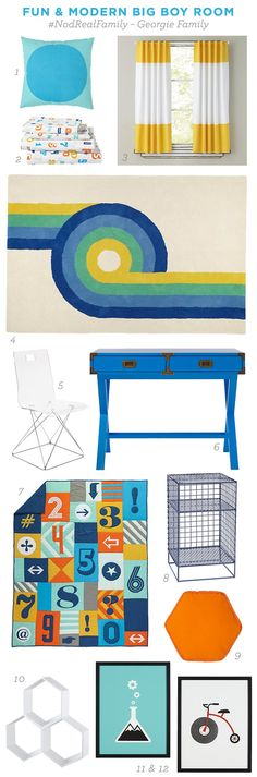 Nod Real Family - Big Boy Room Design Mood Board