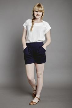 TAPERED SHORTS navy - Margot Molyneux Monochrome, Your Style, Casual Shorts, Navy, Green, God, Clothes, Collection, Design