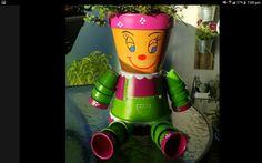 Girl pot person Terracotta, Planter Pots, Terra Cotta