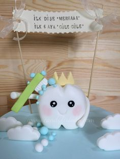 First tooth cake topper for baby boy