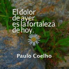 El dolor de ayer, es la fortaleza de hoy...