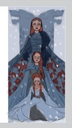 Find images and videos about game of thrones, got and sansa stark on We Heart It - the app to get lost in what you love. Art Game Of Thrones, Dessin Game Of Thrones, Game Of Thrones Funny, Game Of Thrones Drawings, Sansa Stark, Inspiration Art, Character Inspiration, Character Art, Character Design