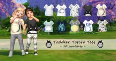 Sims 4 CC's - The Best: Toddler Totoro Tees by My Fabulous Sims