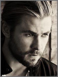 Chris Hemsworth, in a pensive mood..