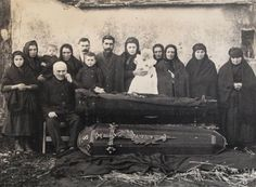 Photography used to be very common at funerals
