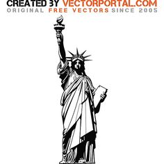 STATUE OF LIBERTY VECTOR GRAPHICS - Download at Vectorportal