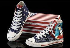 Shop Captain America CONVERSE Blue High Ps Canvas Shoes Cheap To Buy black e25ddf02d