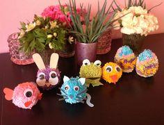Cute yarnanimals to keep the easter bunny company. Kids Craft DIY