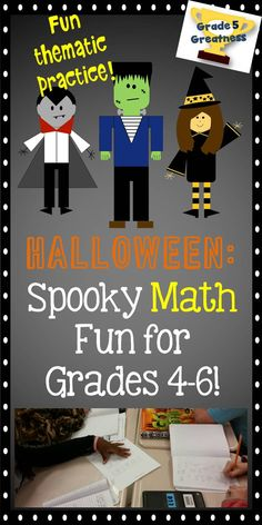 Halloween math activities perfect for spooky math review and holiday fun!