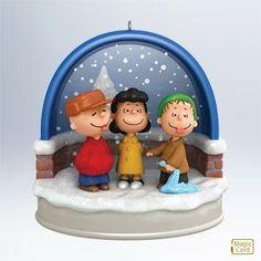 "Hallmark Gold Crown ""Ho Ho Ho Tasty Snow"" Peanuts Christmas ornament 2011"