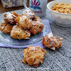Rose del deserto con farina di mandorle Italian Cookie Recipes, Italian Cookies, Biscotti Cookies, Muesli, Gluten Free Desserts, Finger Foods, Food To Make, Muffin, Food And Drink